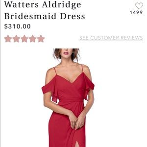 Watters & Watters Bridesmaid/Formal Dress